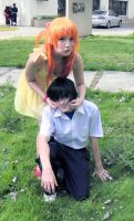 Asuka and Shinji cosplay by SailorMappy