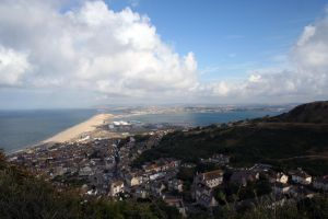 Chesil Bank from Portland by sags
