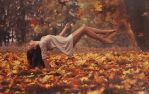 fallen leaves. by mjob