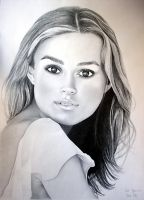 Girl - pencil by Sellren