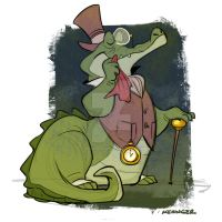 dapper crocodile by BrianKesinger