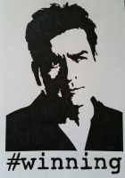 Charlie Sheen by TheWitchFox