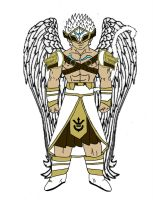 Saiyan Angel [Male] (Colored) by Rojoneo