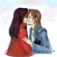 FF7-ReeveVin-One Kiss by Orchidias
