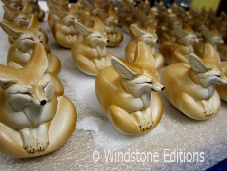 fennec sculptures by Reptangle