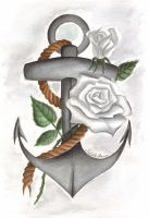 Anchor with Roses by Michelle114