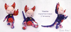 Plaidilla Plush Creature by Lithe-Fider