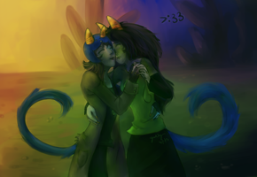 Nepeta and Meulin by aerococonut