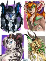 Langurhali Bust Commissions 1 by v-e-r-a