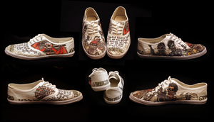 Avenged Sevenfold custom shoes by Jilue