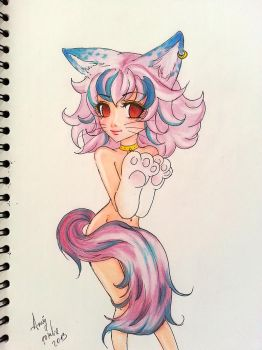 cute kitty -just crayons by sunluvramy