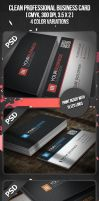 Clean Professional Business Card by VadimSoloviev