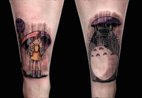 totoro shin pieces i did today by Rudeboytattoo