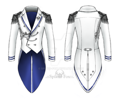 White formal tailcoat by Spiked-Fox