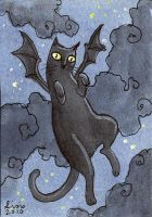 Bat Cat ACEO by liselotte-eriksson