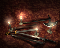 lowpoly medieval weapon set by T-Nuch