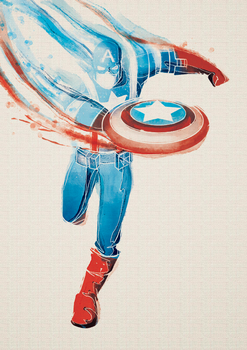 Digital Watercolor - Captain America by razzann