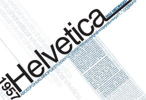 helvetica font poster by phillyfresh
