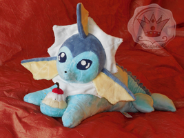 ~*Vaporeon*~ by PlushPrincess