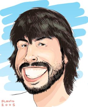 Caricature 2 - Dave Grohl by alfiov