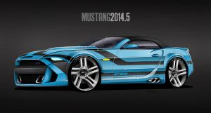 2014.5 Mustang - GT500 Blue by MDominy