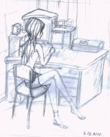 I and my computer.sketch by LaminaNati