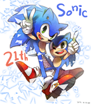 Happy 21th Sonic by Yukisisren