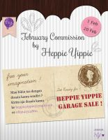 Heppie Yippie Commission and Garage Sale by heppieyippie