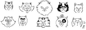 10 Cats by SirDNA109