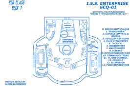 ISS ENTERPRISE CGQ-01 blueprint bridge by CaptainBarringer