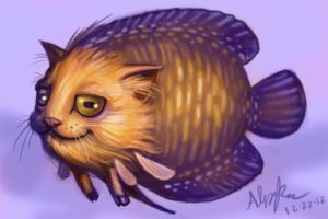 fish goat cat by AnnPars