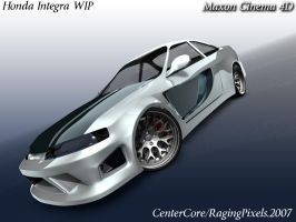 Honda Integra WIP Wallpaper by ragingpixels