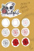 Draw a rose by quttles