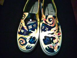 Doctor Who Van Gogh T.A.R.D.I.S. Shoes by GeekyTiffany