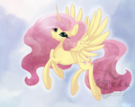 Alicorn Fluttershy by Sugarstarstudio