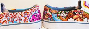 Graffiti Shoes Fresh Kicks by MF-minK