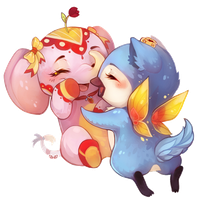 Toffie and Lou - chibi commish by clover-teapot