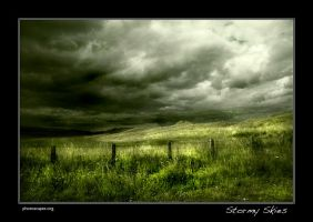Landscape over Northumberland by newcastlemale