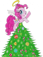 Pinkie Pie Xmas Tree by LilacPhoenix