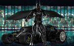 Batman e Batmobile by hiram67