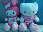 Hello Kitty and Melody by angelicoreXX