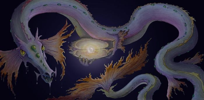 Selkie Tale Part II: Dragon and Pearl by HedwigtheStrange