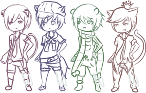 [Sketch Adoptables - Cheap] Kemonomimi Inspired by restitch