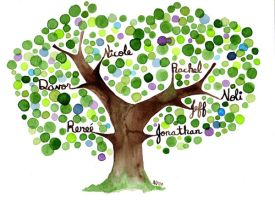 Commissioned Family Tree IV by Angela-Vandenbogaard