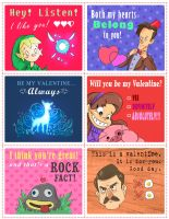 Geeky Valentine's Cards pt2 by Natesquatch