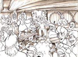 Tavern Party by louisesaunders