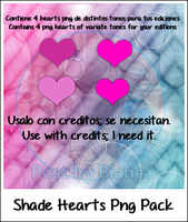 Shade Hearts png pack by biancalovato