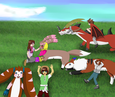 Digimon group picture by Lizuka-Hayashi