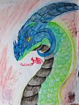 Blue Horned Dragon by Marl1nde