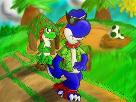 :PC: Yoshi Race (TF Continue) by DougFluff345